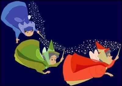 (La Belle au Bois Dormant) Les trois fées qui exaucent les voeux à la naissance d'Aurore se prénomment Pimprenelle, Pâquerette et ...