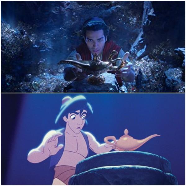 """Dans """"Aladin"""", pour que le génie sorte de sa lampe, que faut-il faire ?"""