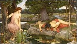 Comment se nomme la nymphe dont Narcisse est tombé amoureux ?