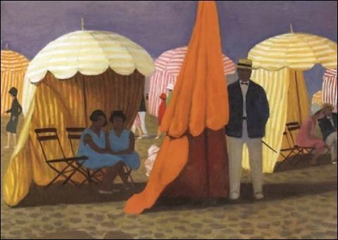 """Qui a peint """"Les parasols à Trouville"""" ?"""