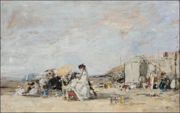 """Qui a peint """"Dame en blanc sur la plage de Trouville"""" ?"""