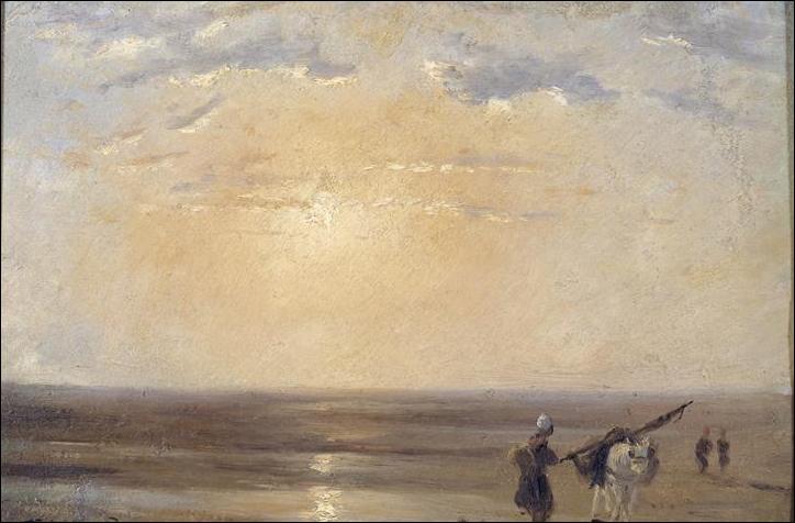"""Qui a peint """"Plage de Trouville au soleil couchant"""" ?"""