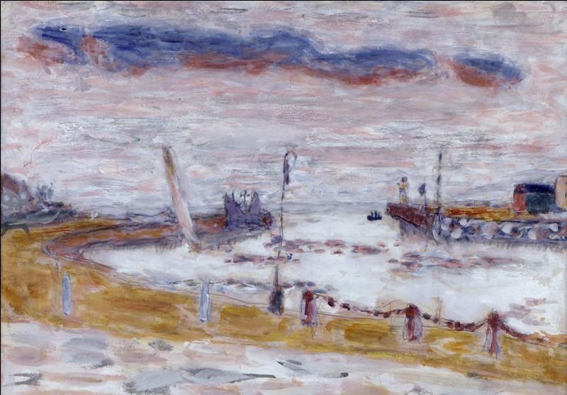 """Qui a peint """"Trouville, la sortie du port"""" ?"""