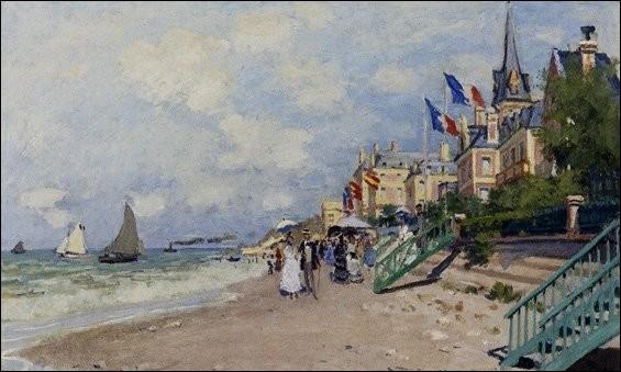 """Qui a peint """"La plage à Trouville"""" ?"""