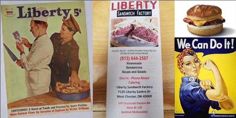 Au cours de la 2e Guerre mondiale, un nouveau plat apparaît aux USA. Mais ce plat n'était pas si nouveau que cela ! Il a été nommé « Liberty sandwiches » !Quelle en est l'origine ?