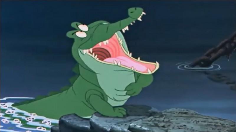 """Dans le dessin animé """"Peter Pan"""", ce crocodile est l'ami du Capitaine Crochet."""