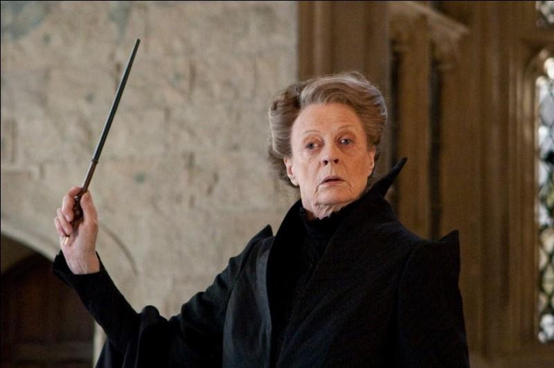 A quelle maison, Minerva McGonagall appartenait-elle lorsqu'elle était à Poudlard ?