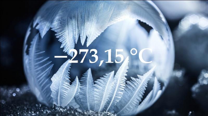 −273,15 °C correspond à quelle valeur ?