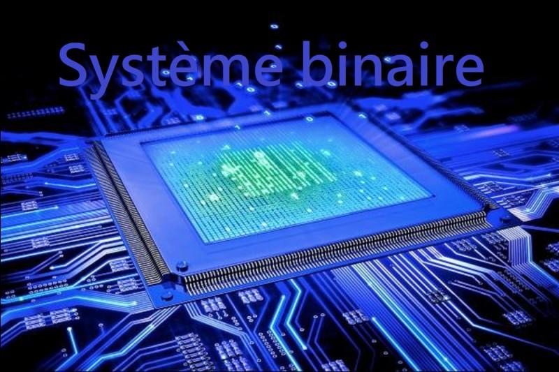 Le système binaire est un système de numération qui ne possède que deux chiffres le 0 et le___?
