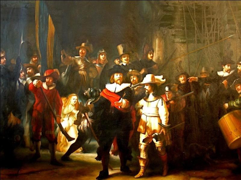 """Le célèbre tableau de Rembrandt """"La Ronde de nuit"""" représente une scène de nuit."""