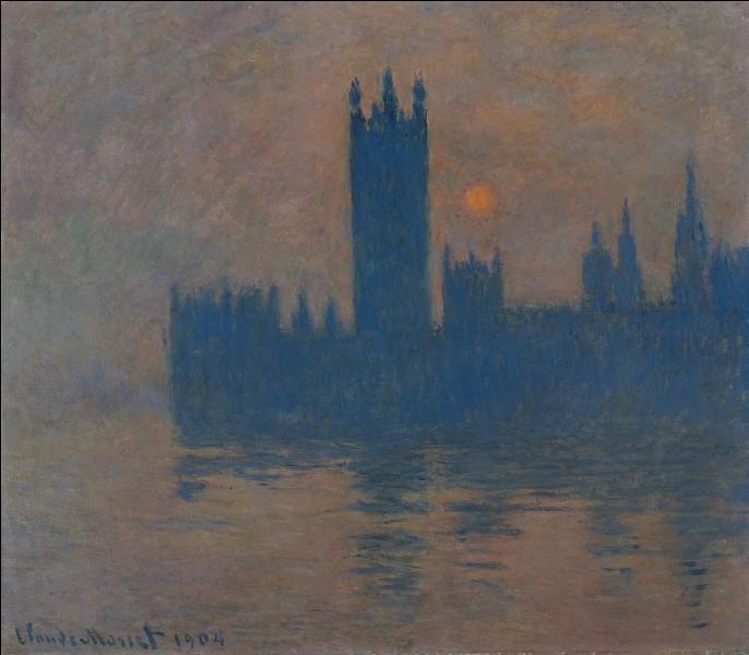 Quel artiste a peint ce tableau représentant le Parlement de Londres ?