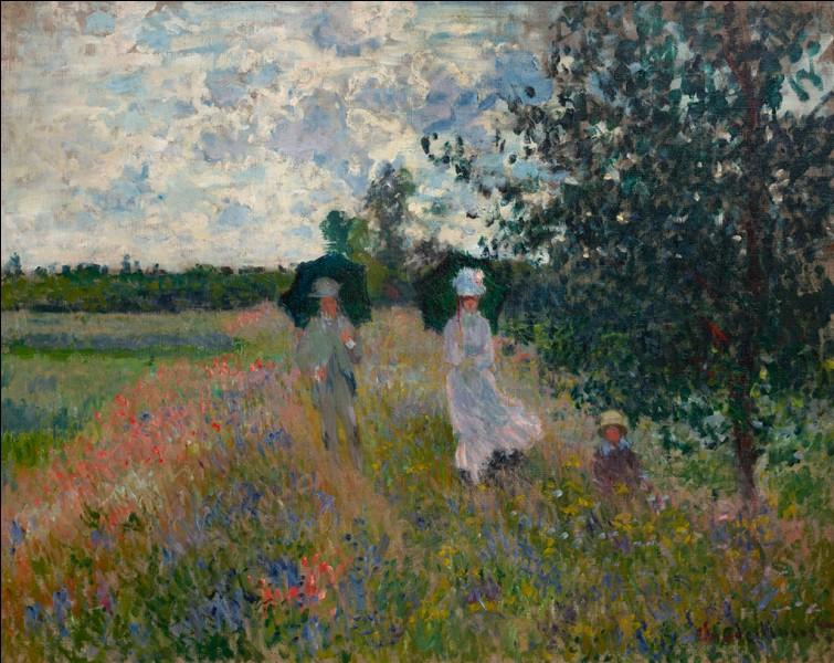 Qui a peint ce paysage fleuri ?