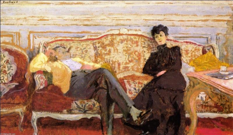 M. et Mme Feydeau sur un canapé, 1901