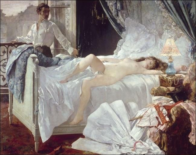 Ce tableau, inspiré d'un poème composé par Alfred de Musset en 1833, fit grand scandale : Rolla (1878)