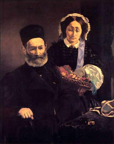 Qui a peint ses parents en 1860 ?