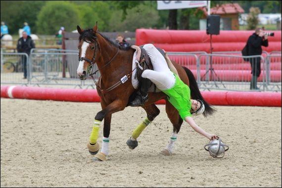 Quel sport se joue à cheval avec un ballon ?