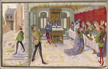 Les banquets n'étaient pas chose commune dans l'aristocratie.