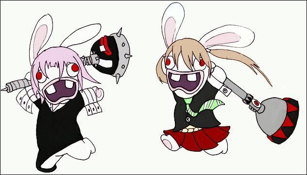 Quel manga est parodié par ces lapins crétins ?