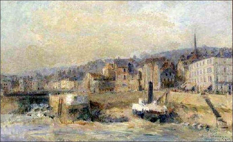 "Qui a peint ""L'avant port d'Honfleur"" ?"