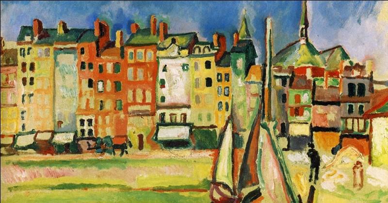 """Qui a peint """"Vieilles maisons sur le port d'Honfleur"""" ?"""