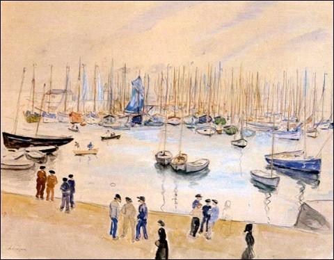 """Qui a peint """"Scène de port, Honfleur"""" ?"""