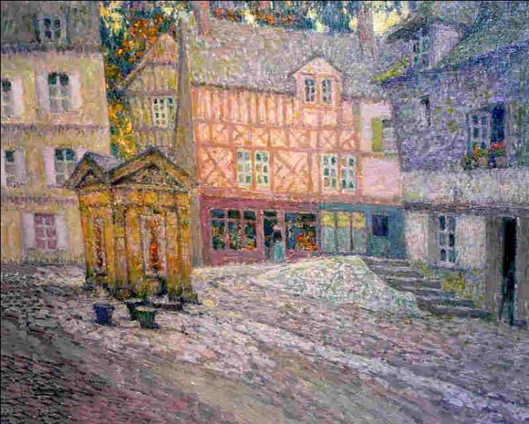 """Qui a peint """"La place du puits à Honfleur"""" ?"""