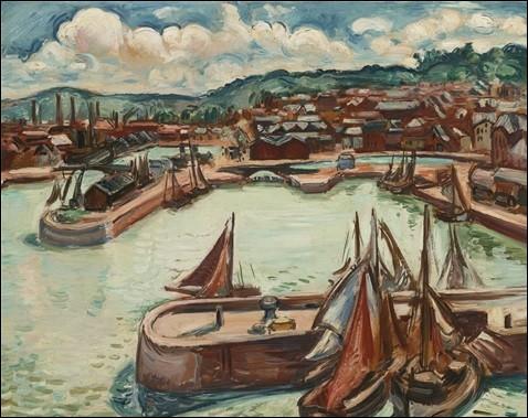 """Qui a peint """"Le port d'Honfleur"""" ?"""