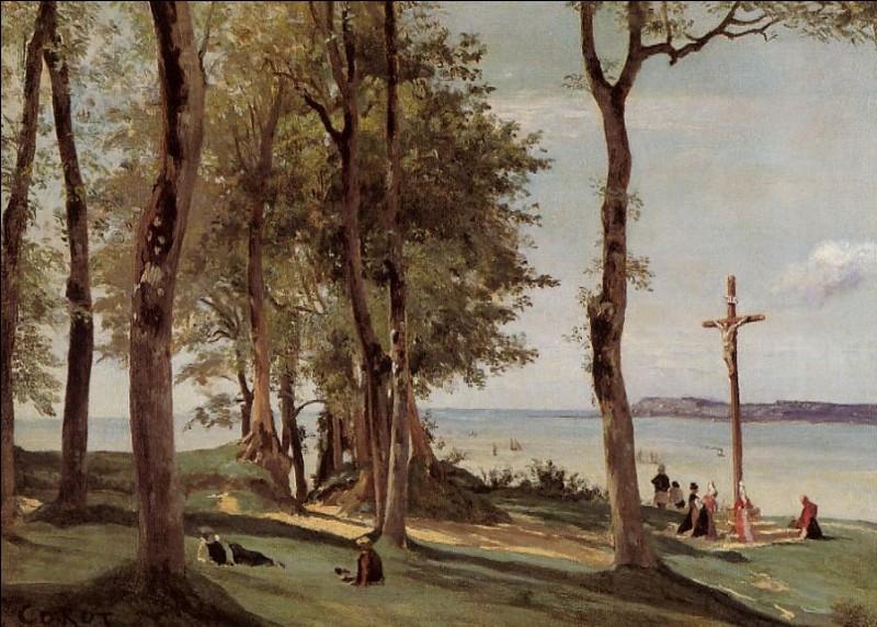 """Qui a peint """"Honfleur, calvaire sur la côte de grâce"""" ?"""