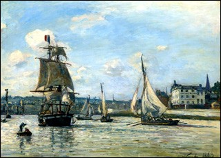 """Qui a peint """"L'entrée du port d'Honfleur"""" ?"""