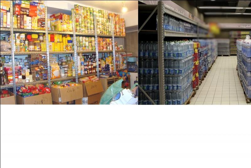 L'ensemble des nourritures et de boissons se stocke ici. Comment se nomme ce lieu stratégique ?