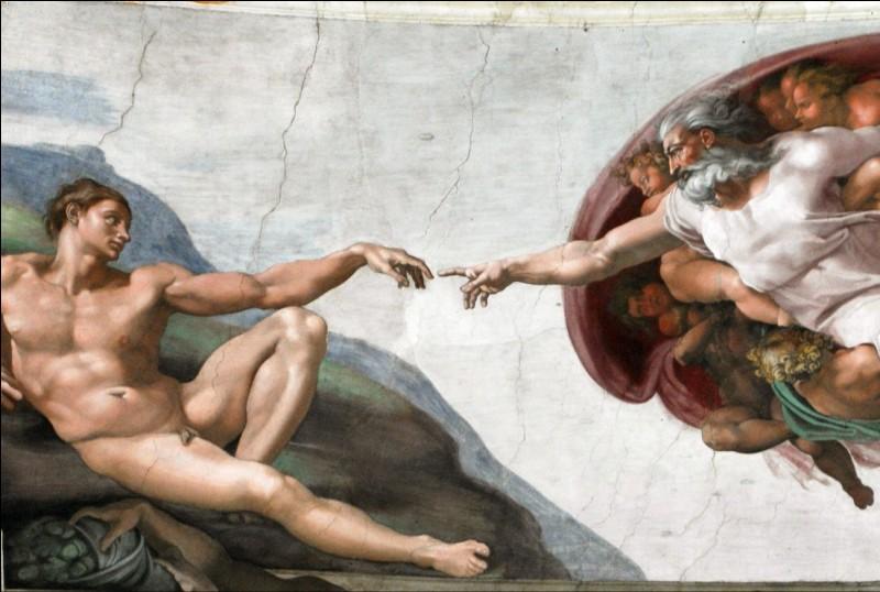 """À quel artiste doit-on la fresque qui orne le plafond de la Chapelle Sixtine du Vatican, intitulée """"La Création d'Adam"""" ?"""