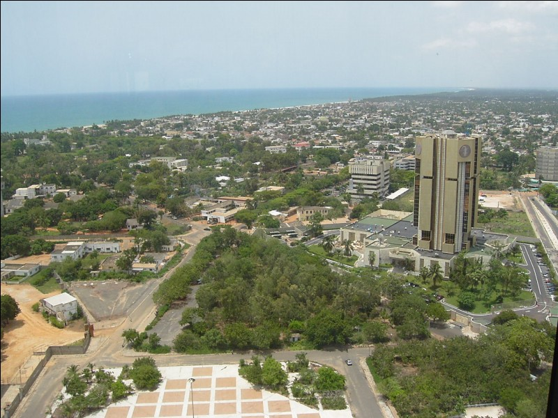 Ville d'Afrique, capitale du Togo :