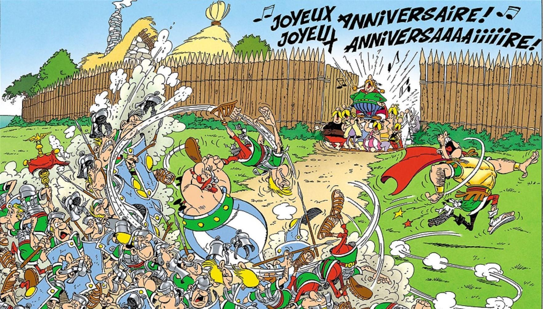 Quelques albums d'Astérix et Obélix pour le 60e anniversaire de la BD !