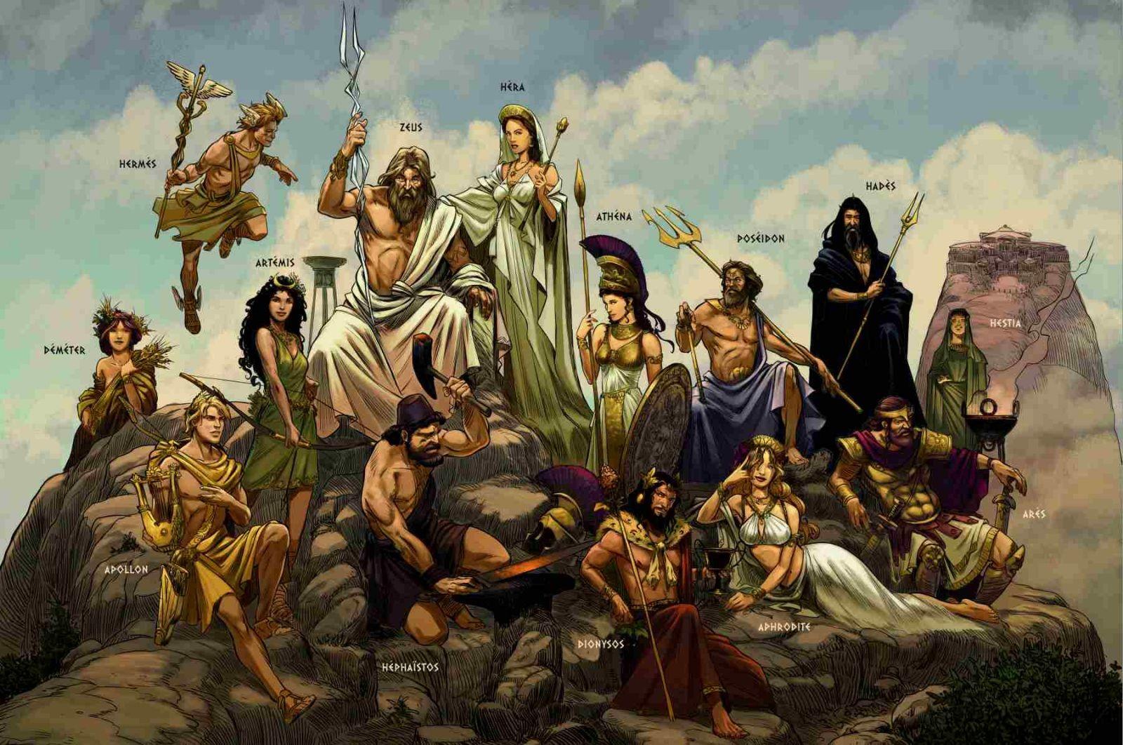 Les dieux grecs, ça te connait ?