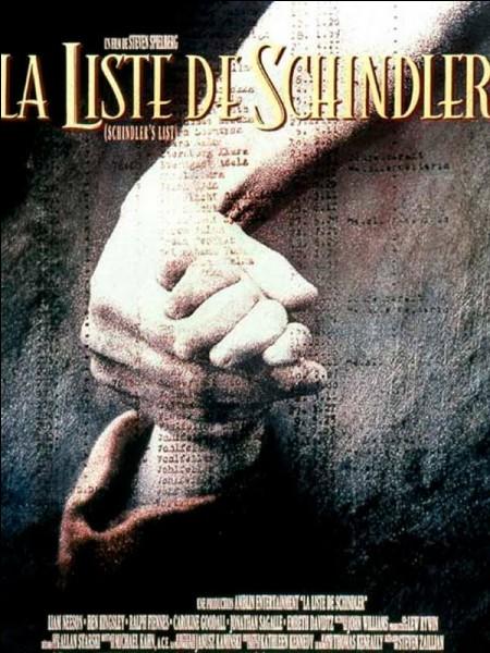 Cochez la bonne affirmation concernant ''La liste de Schindler''.