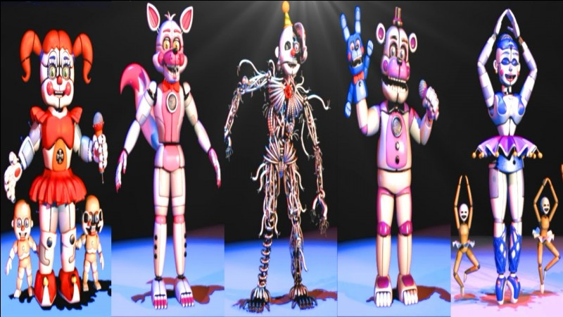 "Dans ""Circus of the Dead"", quel(s) animatronic(s) de Sister Location chante ?"