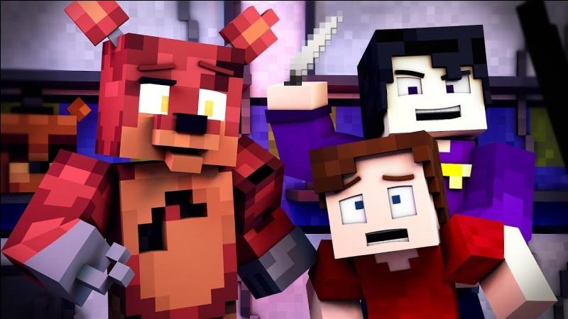 """Dans """"The Foxy Song Minecraft"""", Foxy meurt"""