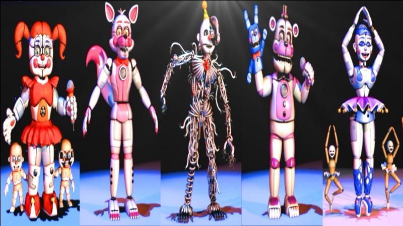 "Quel animatronic de Sister Location Puppet cherche à animer ""The Puppet Song"" ?"