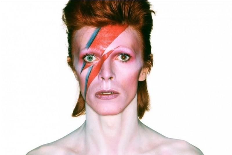 Comment s'appelle le personnage créé par David représentant un extraterrestre descendu sur Terre pour devenir une star de rock ?
