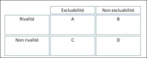 Dans le tableau suivant qui représente les caractéristiques d'un bien, comment allez-vous nommer le C ?