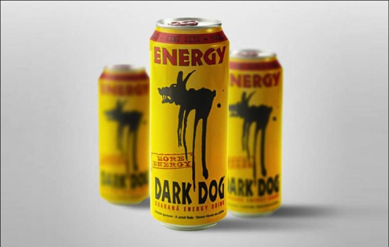 De quoi la caféine de la boisson énergisante Dark Dog est-elle extraite ?