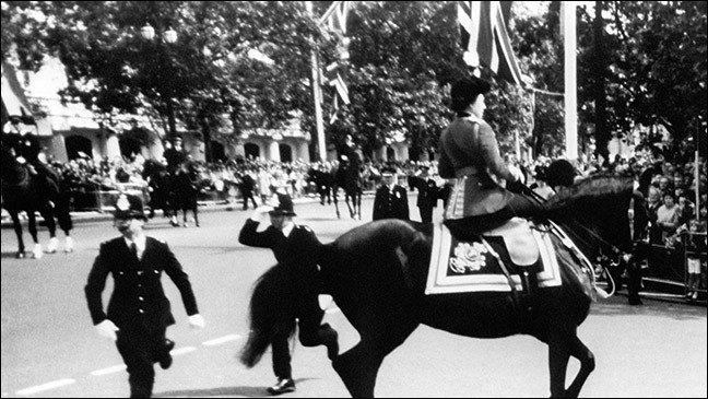 Que se passa-t-il lors du Trooping the Colour 1981 ?