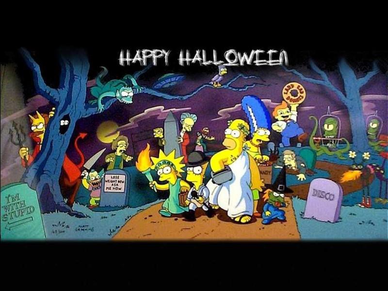 Le Simpson Horror Show est un épisode annuel spécial de la série des Simpson. Aux alentours de quelle fête est-il diffusé ?