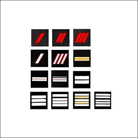 Quelles sont, par ordre hiérarchique, les catégories de grades chez les sapeurs-pompiers ?