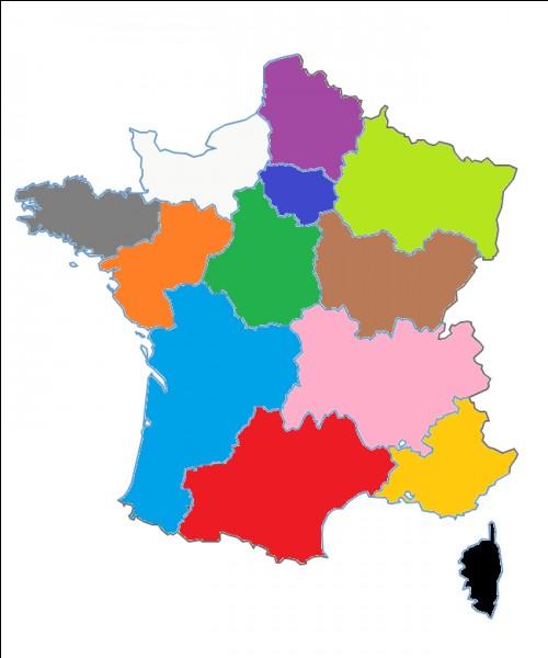 Quel est le nom de cette région en orange ?