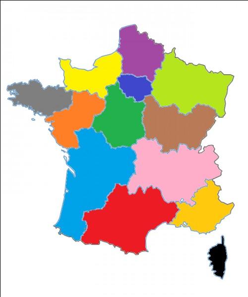Quel est le nom de cette région en jaune clair ?