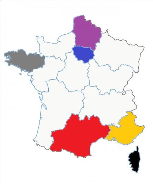 Quel est le nom de cette région en jaune ?