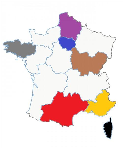 Quel est le nom de cette région en marron ?