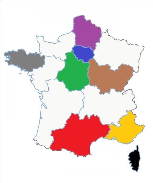 Quel est le nom de cette région en vert Foncé ?