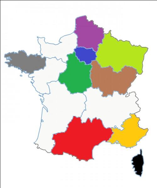 Quel est le nom de cette région en vert clair ?